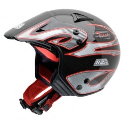 Casco NZI TRIALS II Carbón Rojo