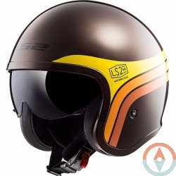 Casco LS2 SPITFIRE OF599 SUNRISE Marron Naranja