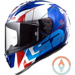 Casco LS2 ARROW R EVO FF323 TECHNO BLANCO AZUL