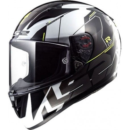 Casco LS2 ARROW R EVO FF323 TECHNO BLANCO NEGRO