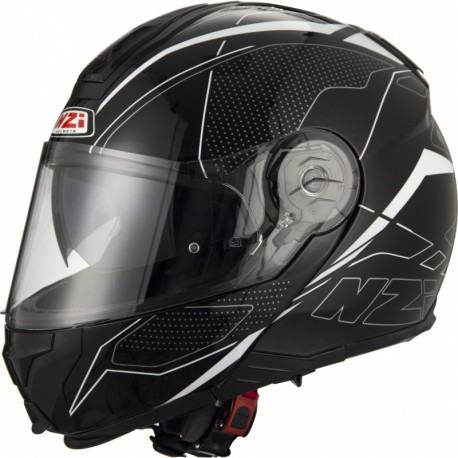Casco Modular NZI COMBI 2 DUO SWORD BLACK&WHITE