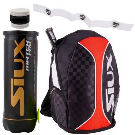 Bandolera Siux S-Bag + Bolas + Protector + Overgrip